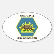 DUI-CALIFORNIA ANG WITH TEXT Sticker (Oval)