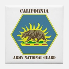 DUI-CALIFORNIA ANG WITH TEXT Tile Coaster