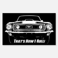 How I Roll - Mustang Boss Sticker (Rectangle)