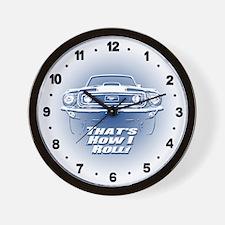 How I Roll - Mustang Boss Wall Clock