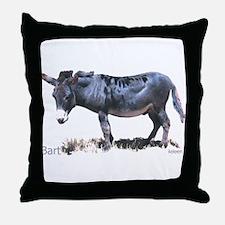 Burro, Miniature Donkey, Bart Throw Pillow