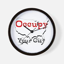 Custom Occupy Your City Wall Clock