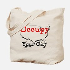 Custom Occupy Your City Tote Bag