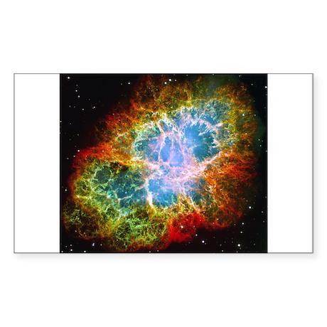 Crab Nebula Sticker (Rectangle)