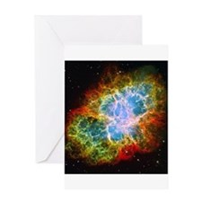 Crab Nebula Greeting Card