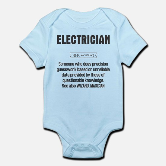 Funny Electrician Definition Body Suit