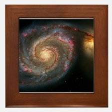 The Whirlpool Galaxy: M51 Framed Tile