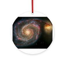 The Whirlpool Galaxy: M51 Ornament (Round)