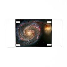 The Whirlpool Galaxy: M51 Aluminum License Plate
