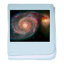 The Whirlpool Galaxy: M51 baby blanket