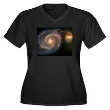 The Whirlpool Galaxy: M51 Women's Plus Size V-Neck
