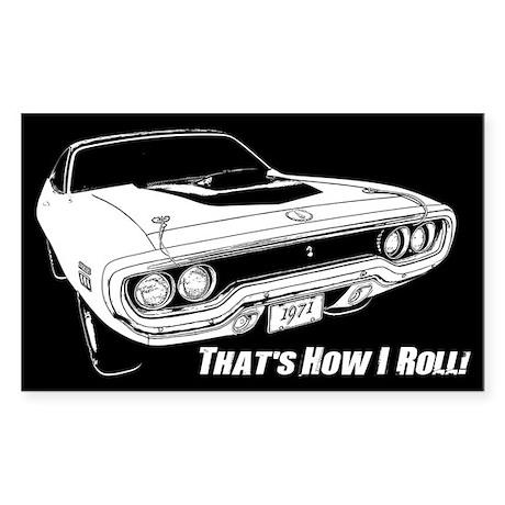 How I Roll - Road Runner Sticker (Rectangle)