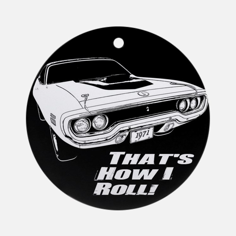 How I Roll - Road Runner Ornament (Round)