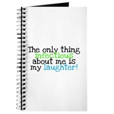 Infectious Laughter green/pin Journal