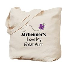 Alzheimer's Love My Great Aunt Tote Bag