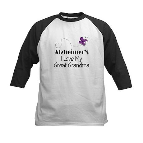 Alzheimer's Love My Great Grandma Kids Baseball Je