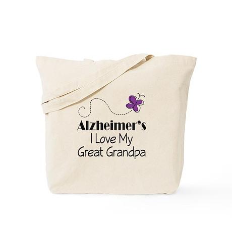 Alzheimer's Love My Great Grandpa Tote Bag