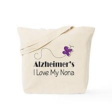 Alzheimer's Love My Nona Tote Bag