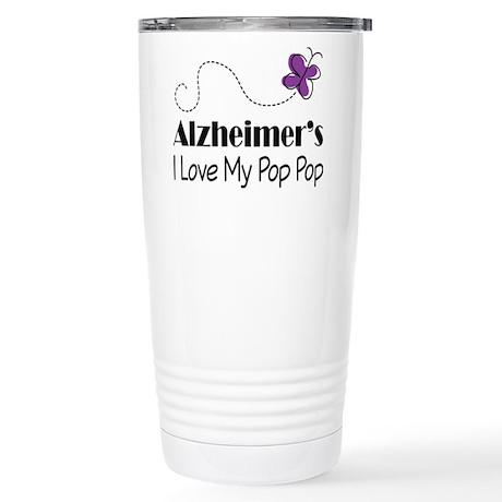 Alzheimer's Love My Pop Pop Stainless Steel Travel