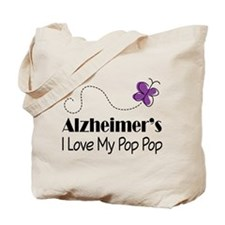Alzheimer's Love My Pop Pop Tote Bag