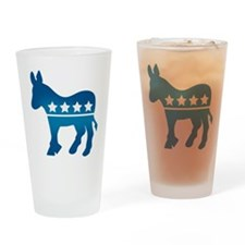 Democrats Donkey Drinking Glass