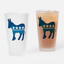Democrats Donkey Drinking Glass