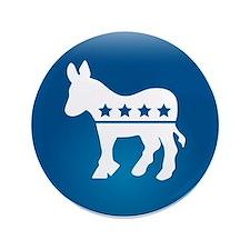 "Democrats Donkey 3.5"" Button"
