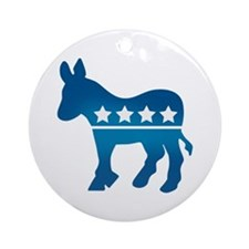 Democrats Donkey Ornament (Round)