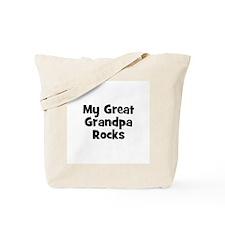 My Great Grandpa Rocks Tote Bag