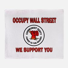 COMMUNISTS USA Throw Blanket