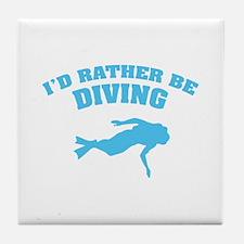 I'd rather be diving Tile Coaster