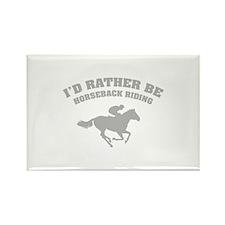 I'd rather be horseback riding Rectangle Magnet (1