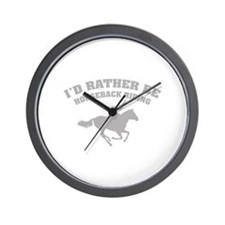 I'd rather be horseback riding Wall Clock