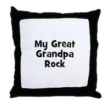 My Great Grandpa Rock Throw Pillow