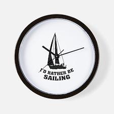 I'd rather be sailing Wall Clock