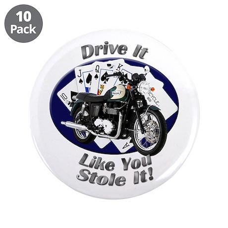 Triumph Bonneville 3.5 Inch Button (10 pack)