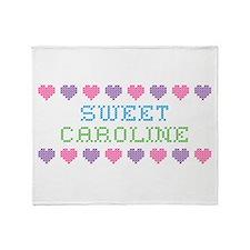 Sweet CAROLINE Throw Blanket