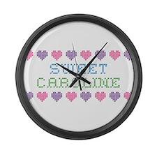 Sweet CAROLINE Large Wall Clock