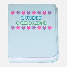 Sweet CAROLINE baby blanket