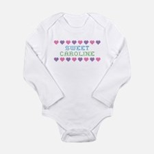 Sweet CAROLINE Long Sleeve Infant Bodysuit