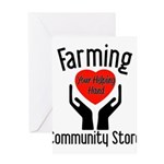 Farming Community Store Greeting Card