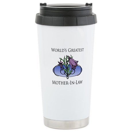 World's Greatest Mother-In-Law (Floral) Stainless
