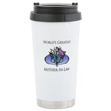 World's Greatest Mother-In-Law (Floral) Travel Mug