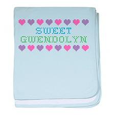 Sweet GWENDOLYN baby blanket