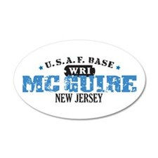 McGuire Air Force Base 22x14 Oval Wall Peel