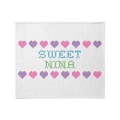 Sweet NINA Throw Blanket