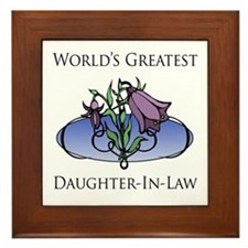World's Greatest Daughter-In-Law (Floral) Framed T