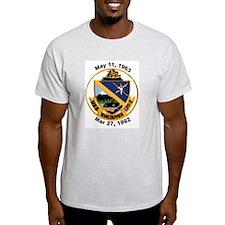 USS Vancouver Decomm LPD 2 Ash Grey T-Shirt