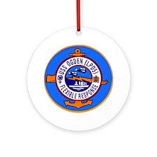 USS Ogden LPD 5 Ornament (Round)