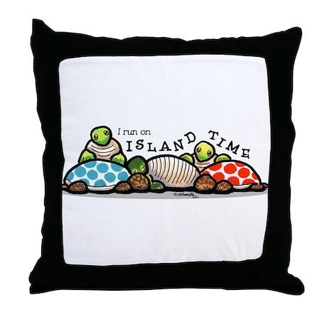 Island Time Turtle Throw Pillow